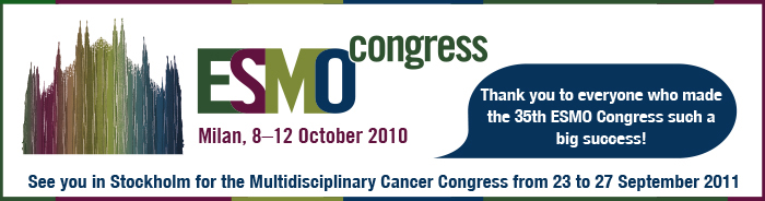 ESMO Congress Milan 2010 resources