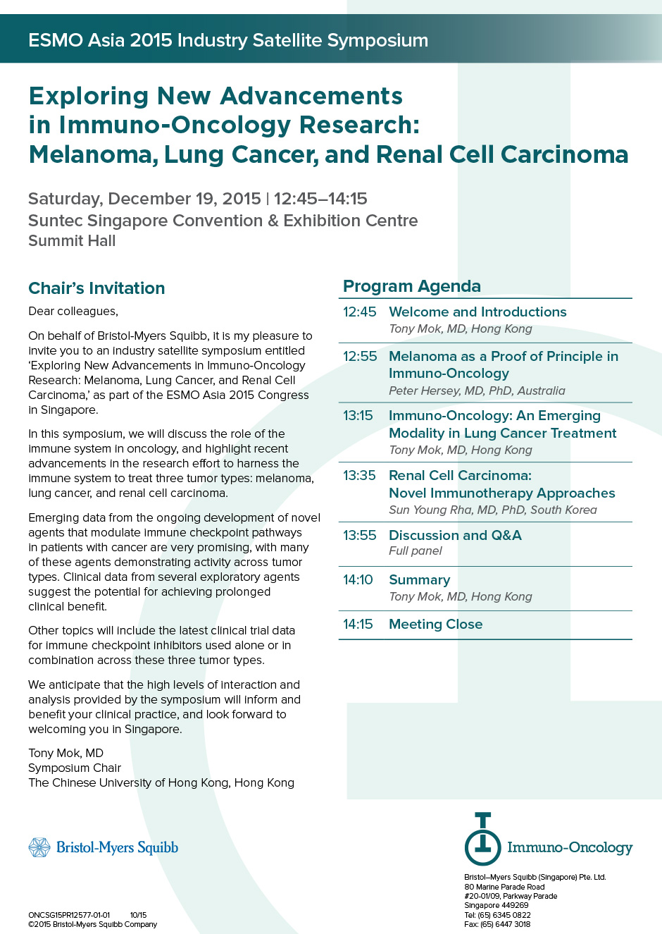Exploring New Advancements in Immuno-Oncology Research: Melanoma Lung Cancer and Renal Cell Carcinoma