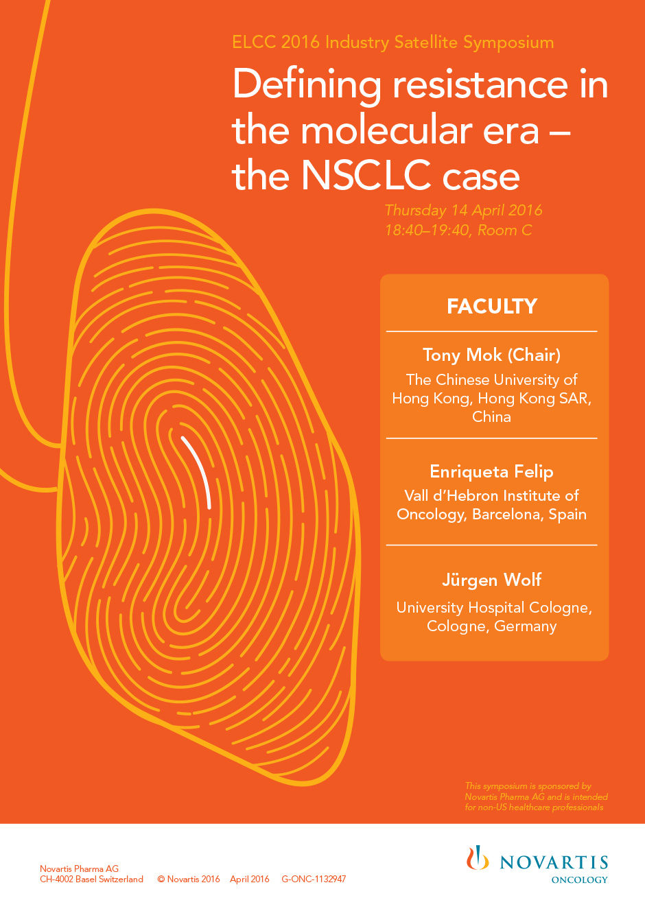 Defining Resistance In The Molecular Era – The NSCLC Case
