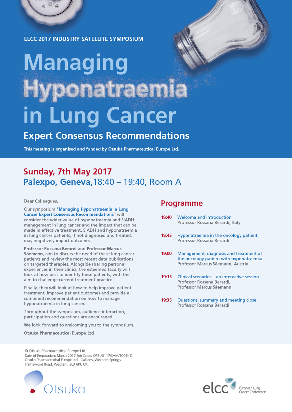 Managing Hyponatraemia in Lung Cancer