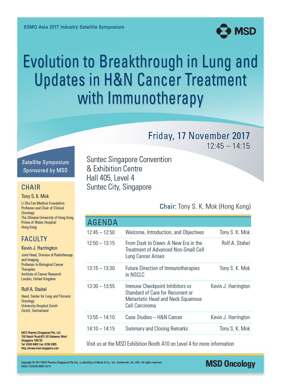 Evolution to Breakthrough in Lung and Updates in H&N Cancer Treatment with Immunotherapy