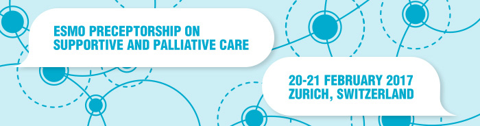 ESMO Preceptorship on Supportive and Palliative Care 2017 banner