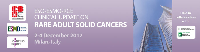 ESO-ESMO-RCE Clinical Update on Rare Adult Solid Cancers 2017 banner