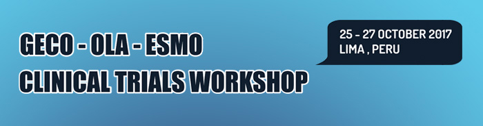 GECO-OLA-ESMO Clinical Trials Workshop banner