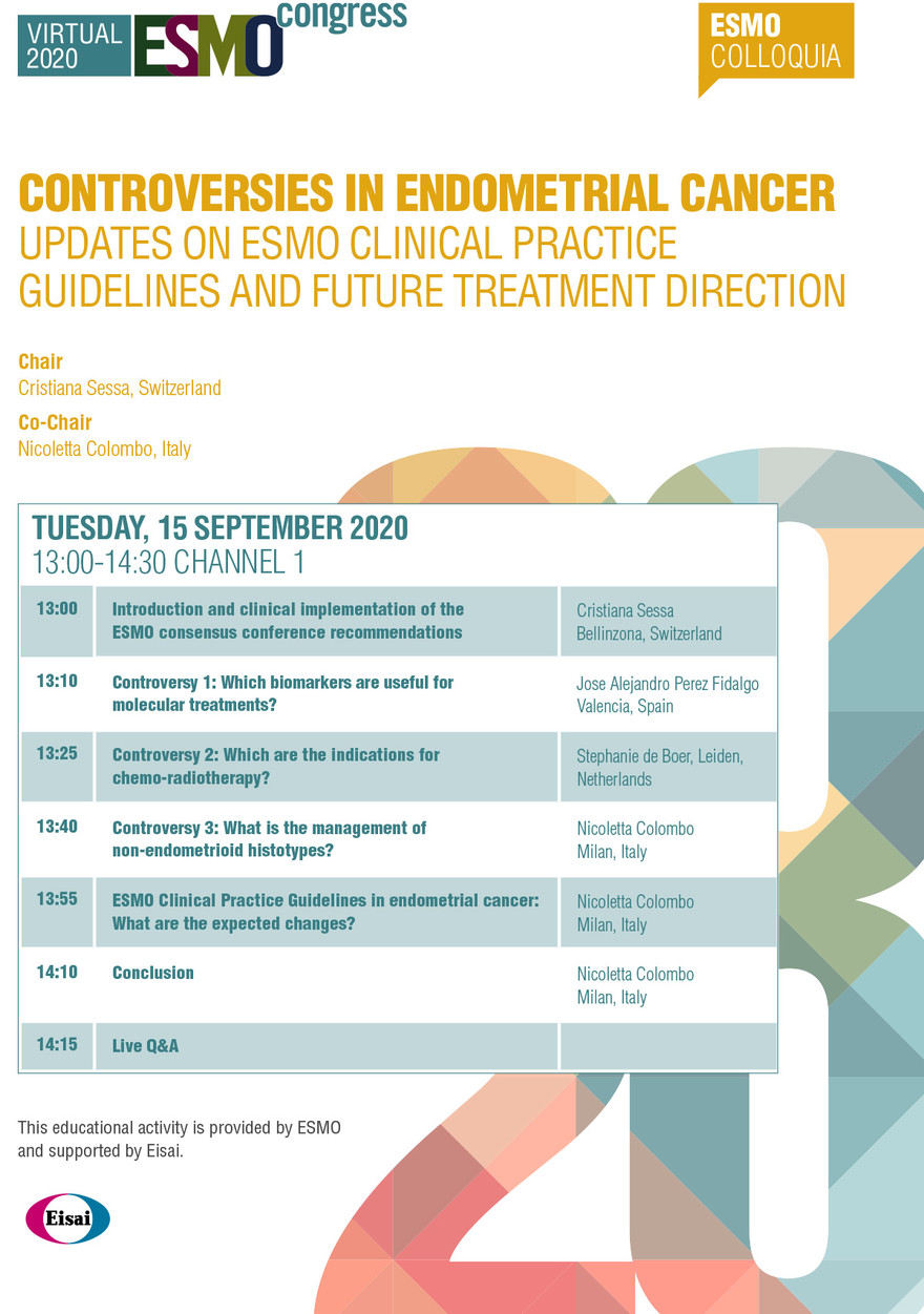 pancreatic cancer esmo guidelines