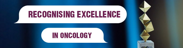 ESMO Awards banner Recognising Excellence