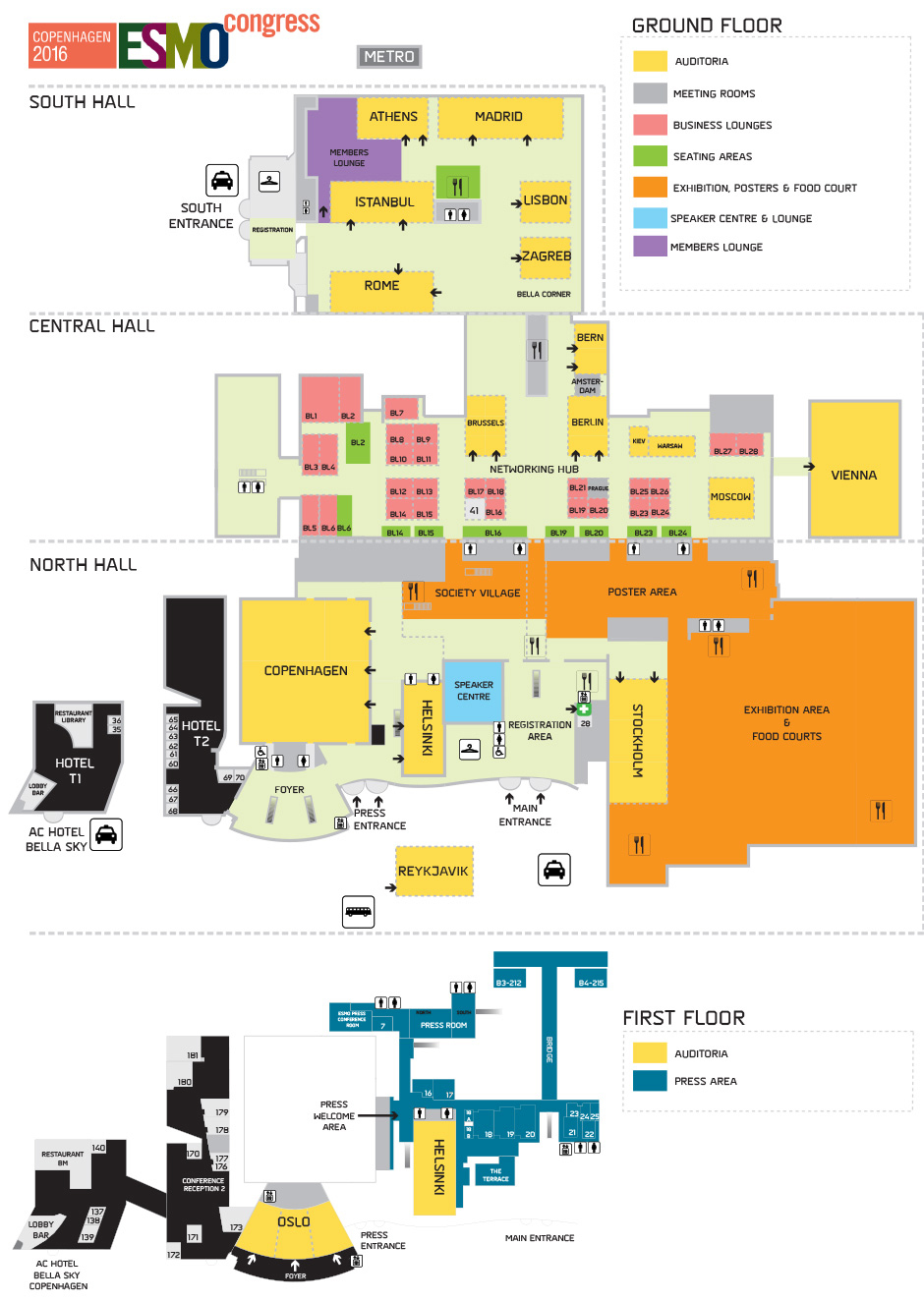 ESMO 2016 Congress Venue Floorplan