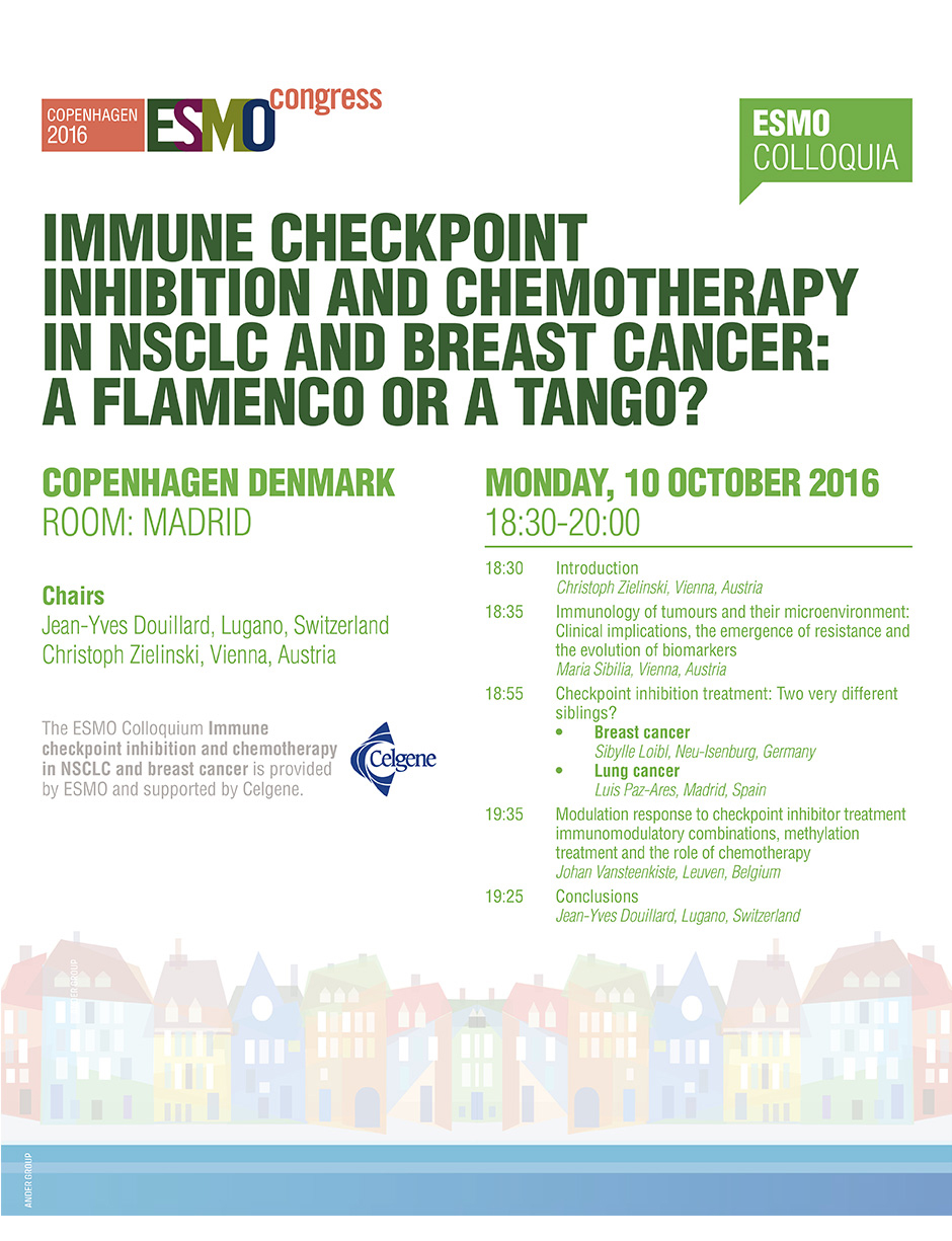 ESMO Colloquium Immune Checkpoint Inhibition and Chemotherapy in NSCLC and Breast Cancer: A Flamenco or a Tango?