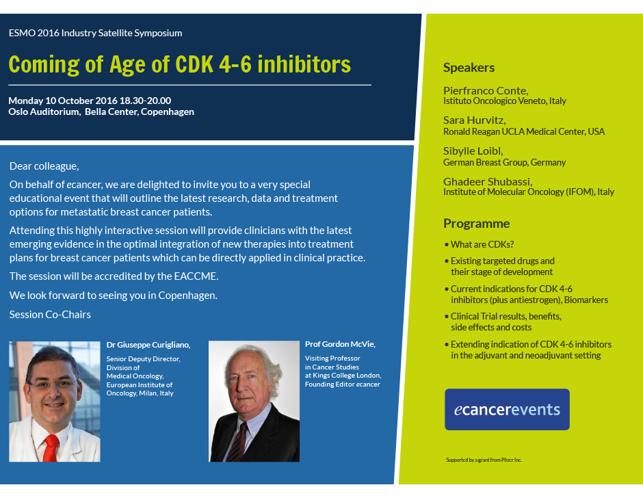 Coming of Age of CDK 4-6 Inhibitors