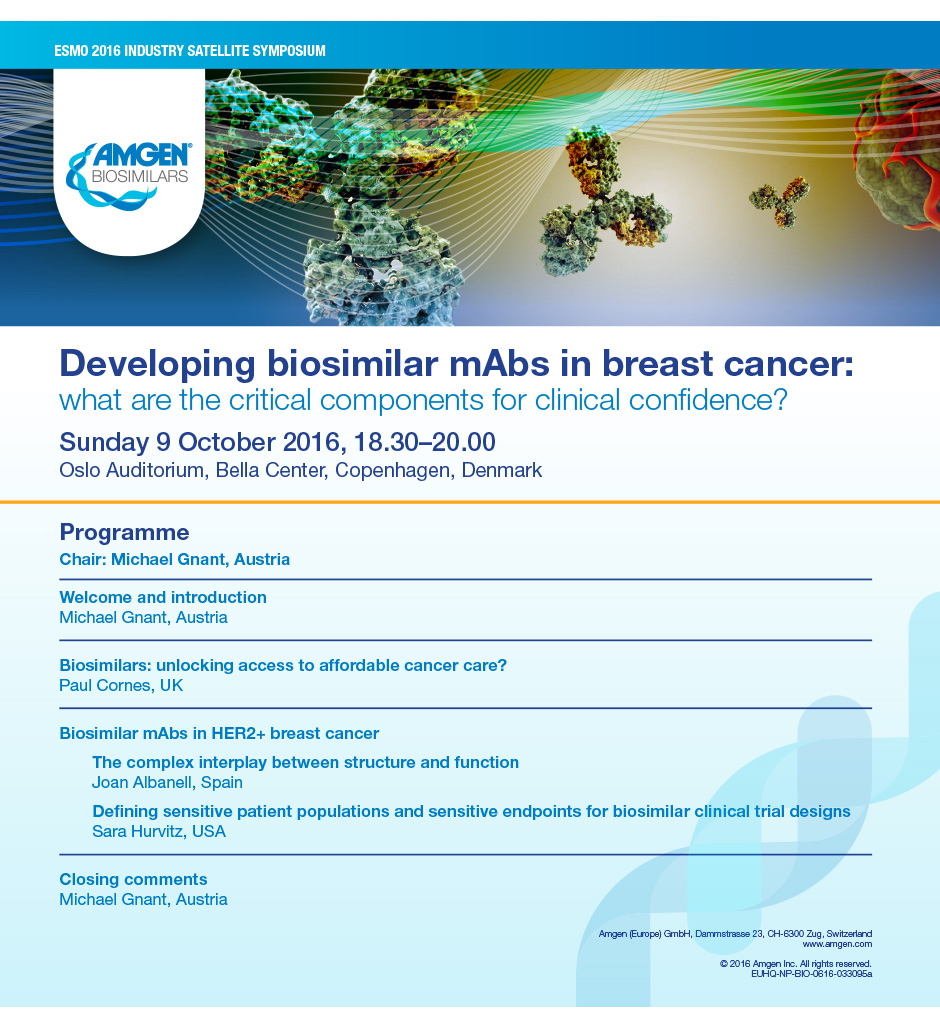 Developing Biosimilar mAbs in Breast Cancer What are the Critical Components for Clinical Confidence