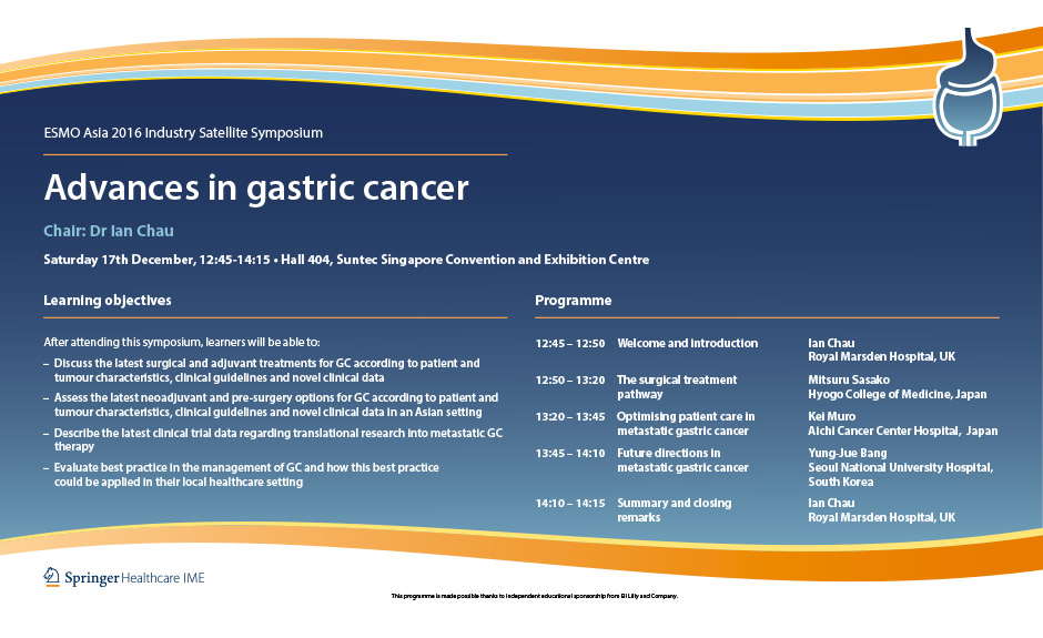 gastric cancer guideline esmo