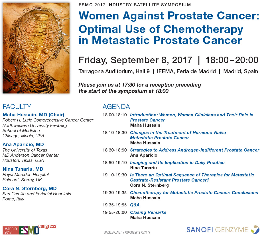 Women Against Prostate Cancer: Optimal Use of Chemotherapy in Metastatic Prostate Cancer