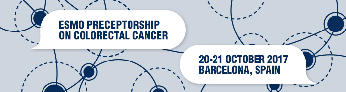 ESMO Preceptorship on Colorectal Cancer Barcelona 2017 banner