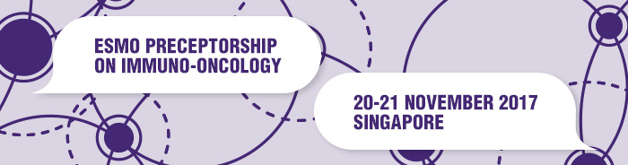ESMO Preceptorship on Immuno Oncology Singapore-2017 banner