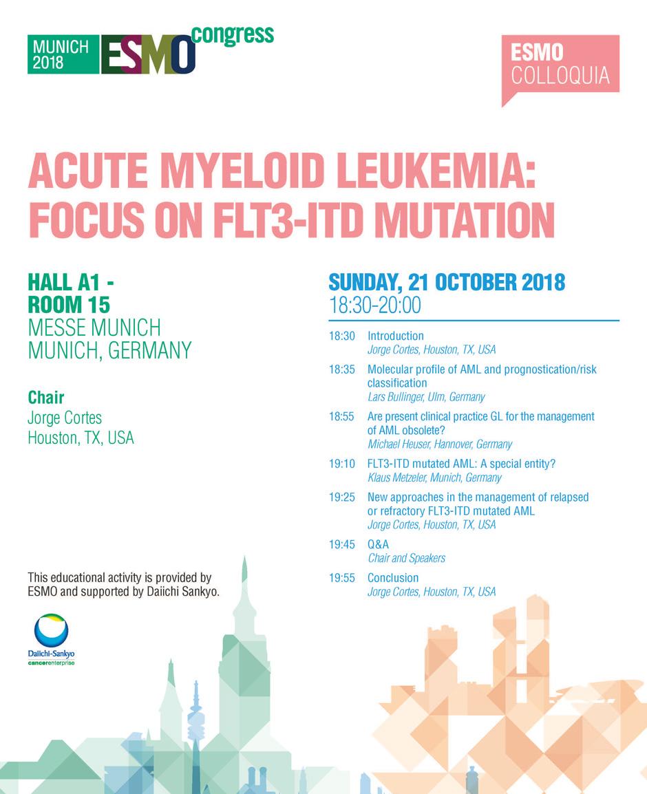 Acute myeloid leukaemia: Focus on FLT3-ITD mutation | ESMO