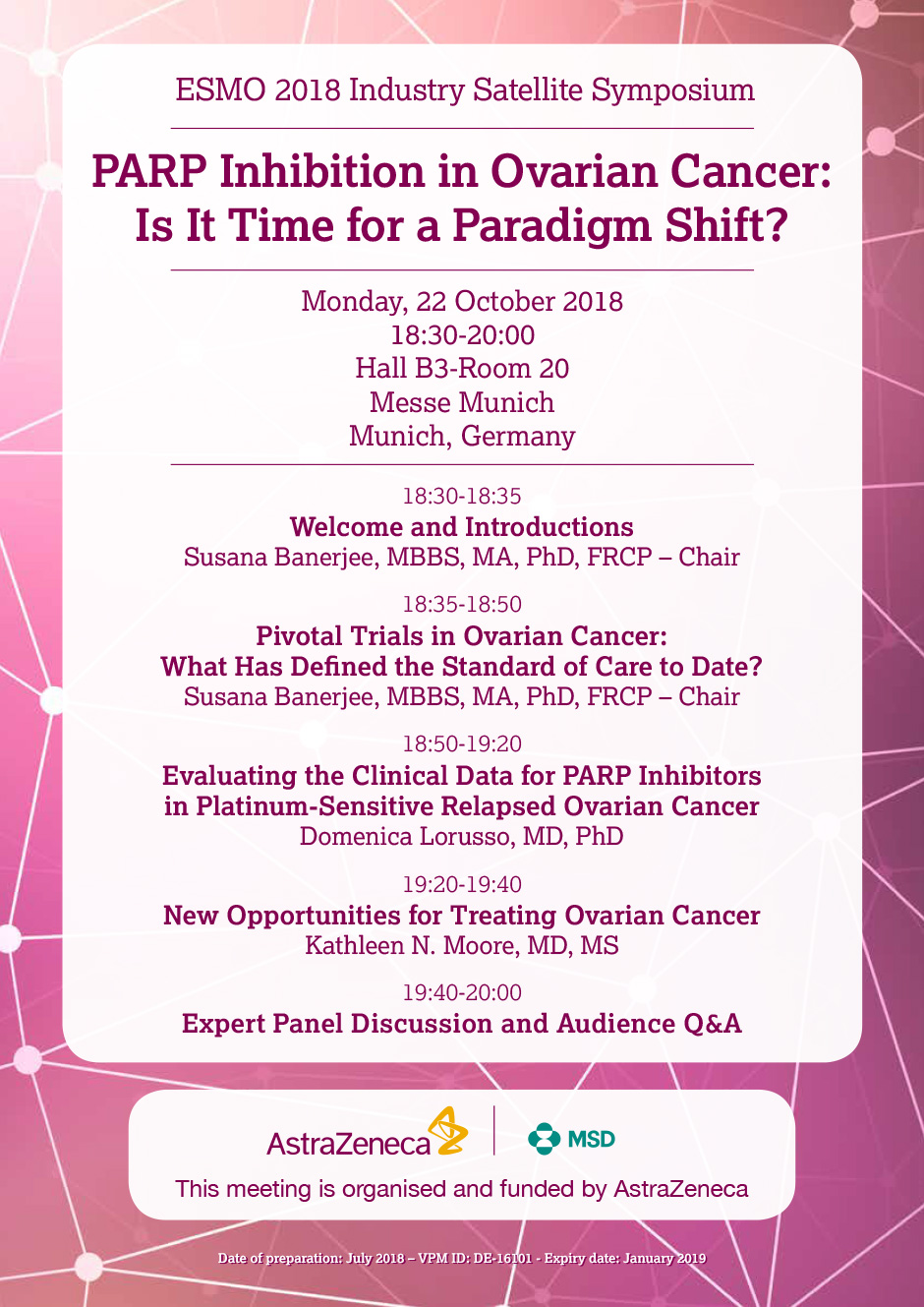 Parp Inhibition In Ovarian Cancer Is It Time For A Paradigm Shift Esmo