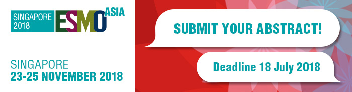 ESMO Asia 2018 - Submit Your Abstract banner