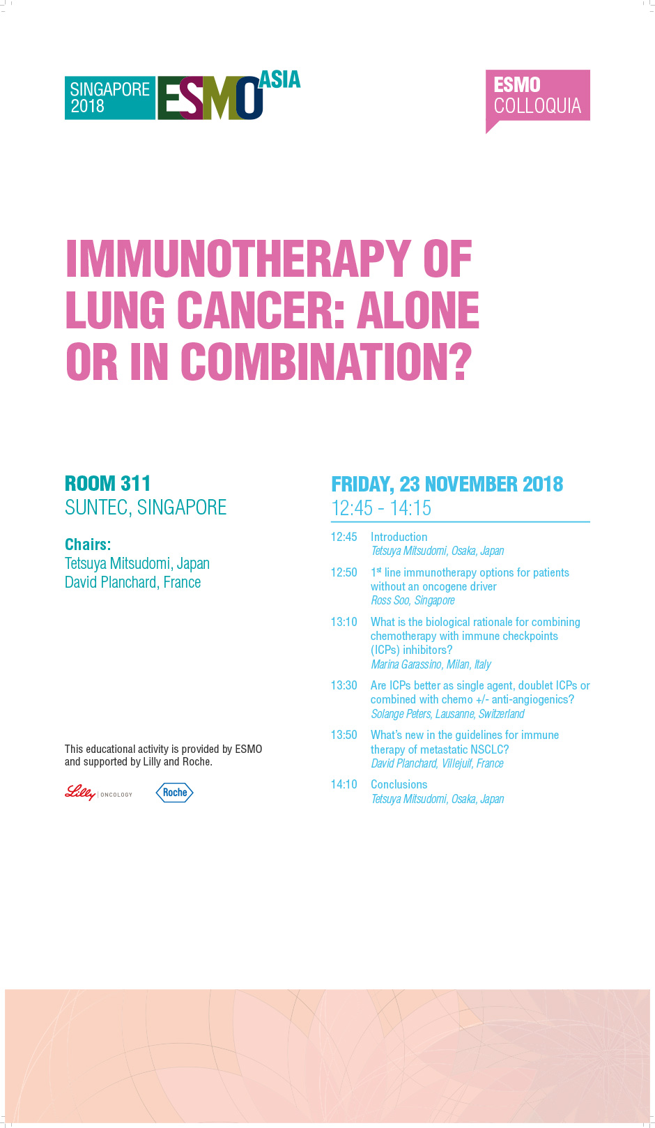 Immunotherapy of Lung Cancer: Alone or in Combination?