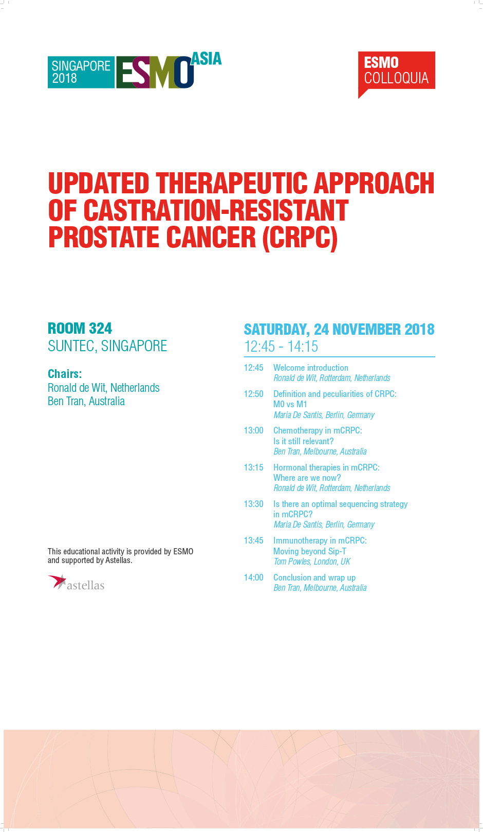 Updated Therapeutic Approach of Castration-Resistant Prostate Cancer (CRPC)