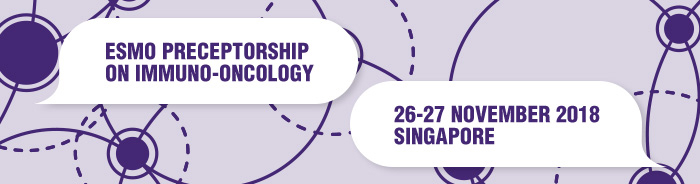 ESMO Preceptorship on Immuno-Oncology Singapore 2018 banner