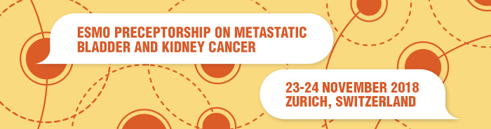 ESMO Preceptorship on Metastatic Bladder and Kidney Cancer Zurich Banner