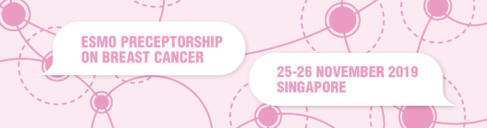 ESMO Preceptorship on Breast Cancer Singapore 2019 banner