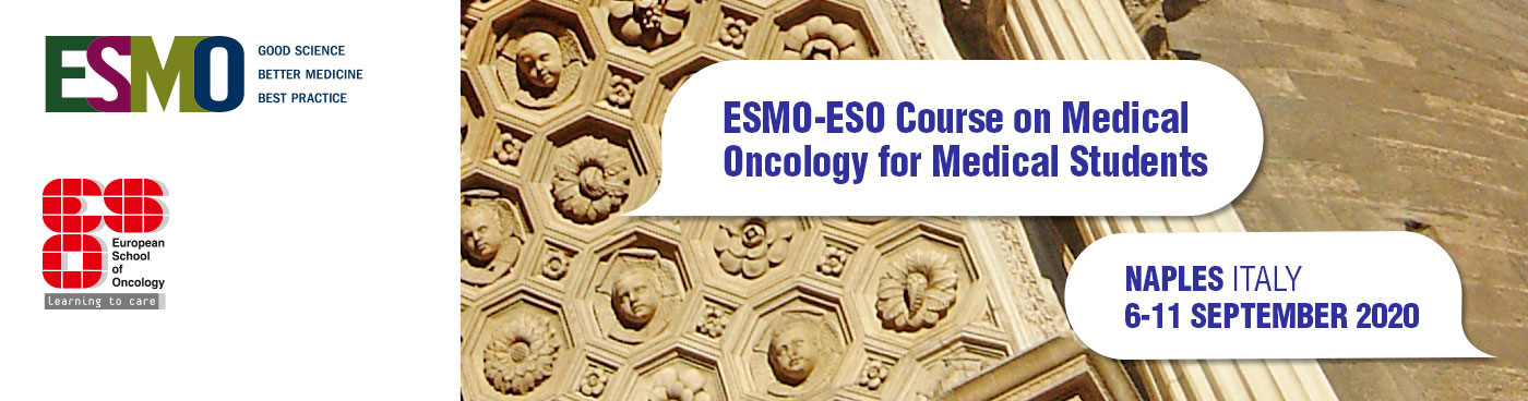 ESMO-ESO Course on Medical Oncology for Medical Students Naples Banner