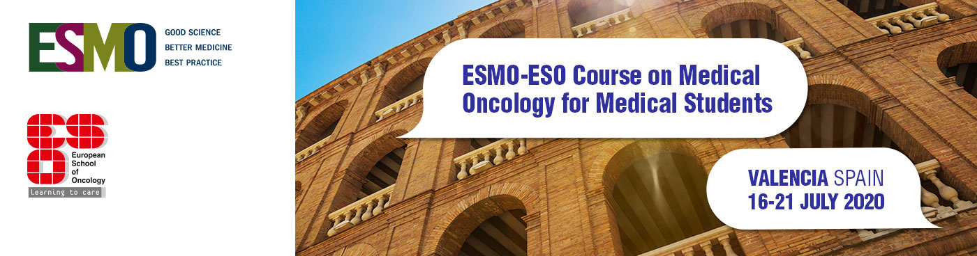 ESMO-ESO Course on Medical Oncology for Medical Students Valencia Banner