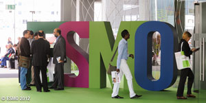ESMO signage at the ESMO 2012 conference