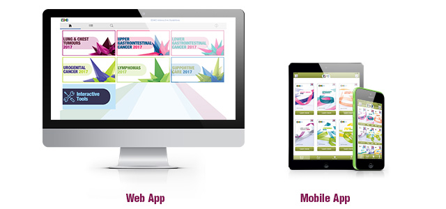 ESMO Pocket Guidelines App Multidevice Mockup