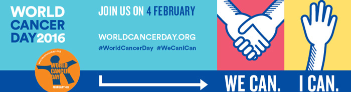 ESMO Supports World Cancer Day 2016 banner