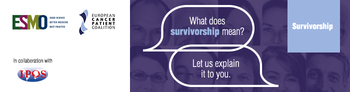 ESMO Patient Guide on Survivorship Banner