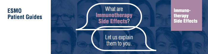 ESMO Patient Guides Immunotherapy Side Effects banner